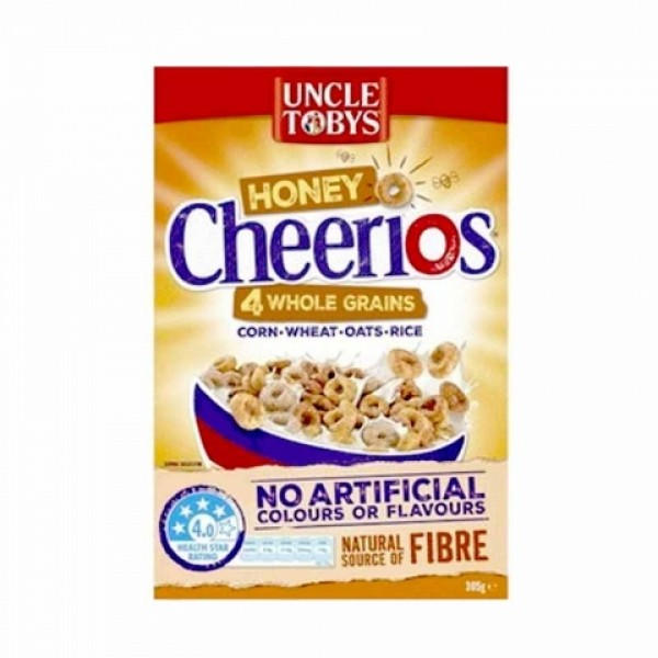 Uncle Tobys 托比叔叔儿童全谷物早餐甜麦圈宝宝儿童305g