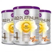 A2 白金婴儿奶粉1段婴幼儿奶粉900g 3罐