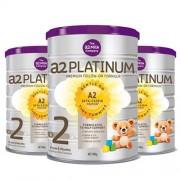 A2 白金婴儿奶粉2段婴幼儿奶粉900g 3罐